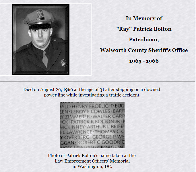 In Memory of Ray Patrick Bolton