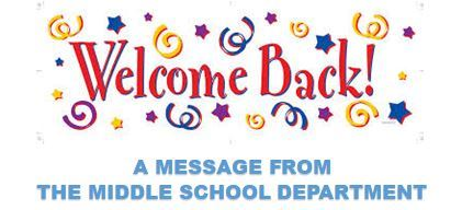 2020-2021 Welcome Back - Middle School Department (JPG)