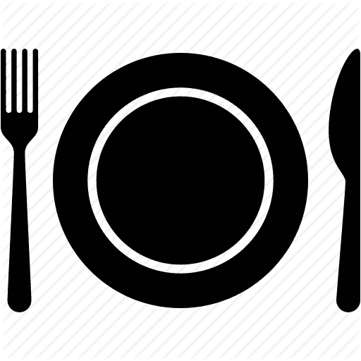 Plate and fork and knife