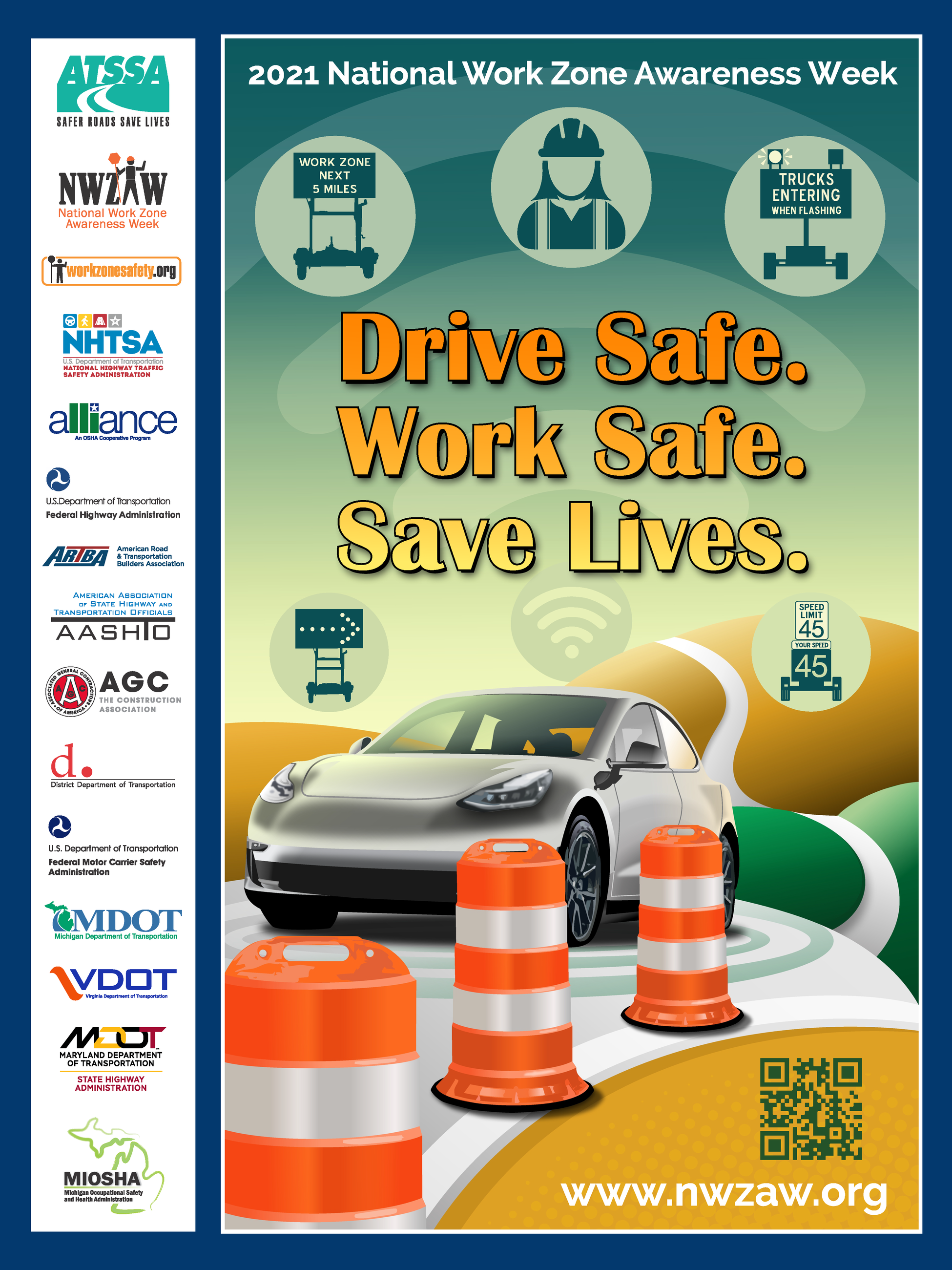 Image of National Work Zone Awareness Week Poster