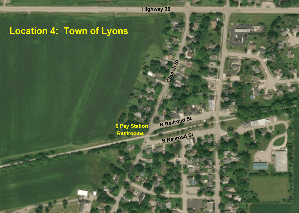 Town of Lyons Aerial Map
