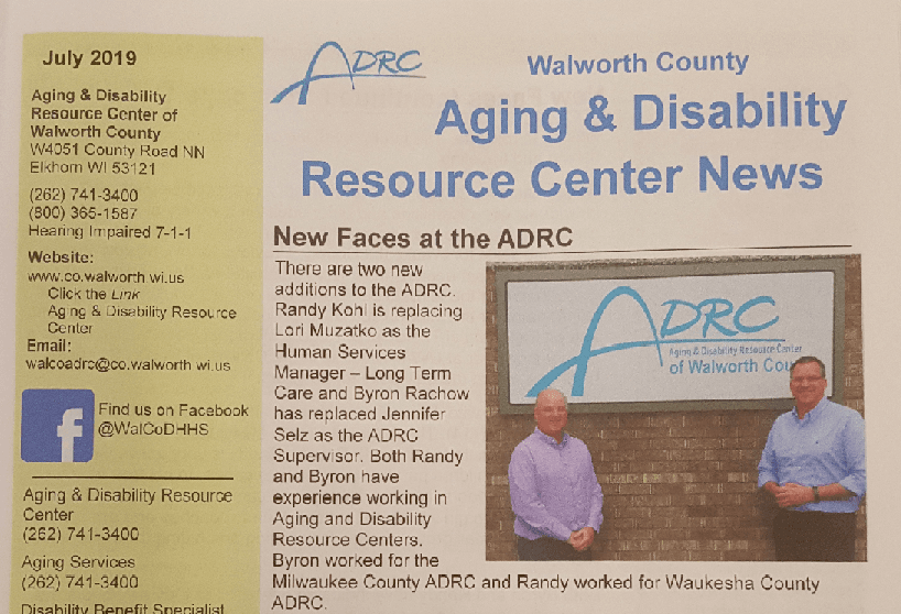 Aging and Disability Resource Center Newspaper Article